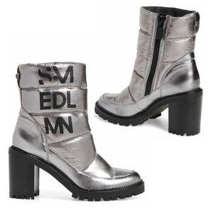 NIB Sam Edelman Quilted Silver Metallic Bootie